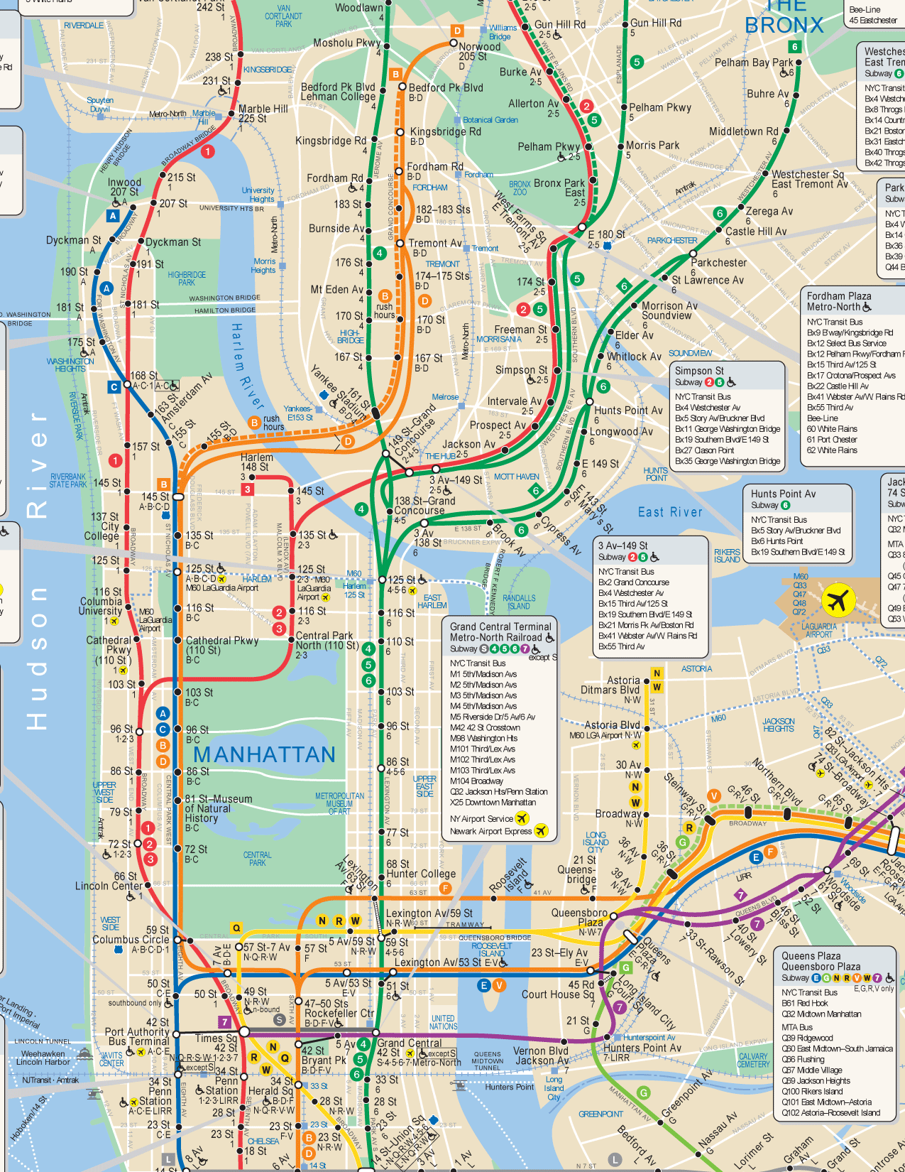 Nyc Uptown Subway Map.New York Private Tours Nyc Tour Guide Vip Private Tours Ny